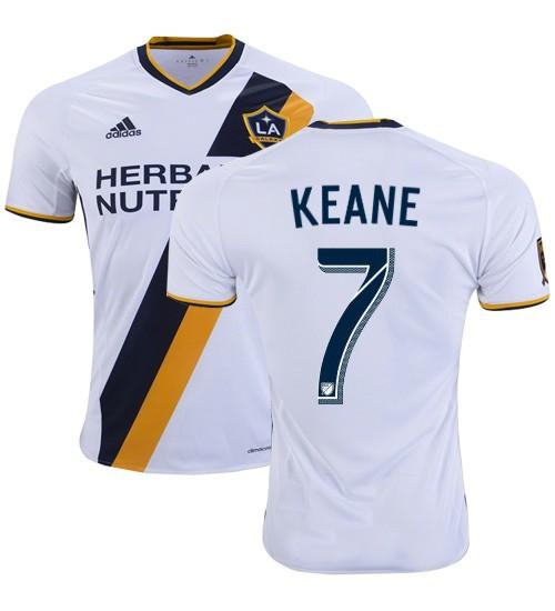 new styles 5f4bb d9b9a LA Galaxy #7 Robbie Keane 2017/18 Home White Jersey
