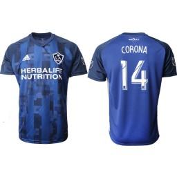 2019/20 Los Angeles Galaxy #14 CORONA Away Authentic Jersey - Navy